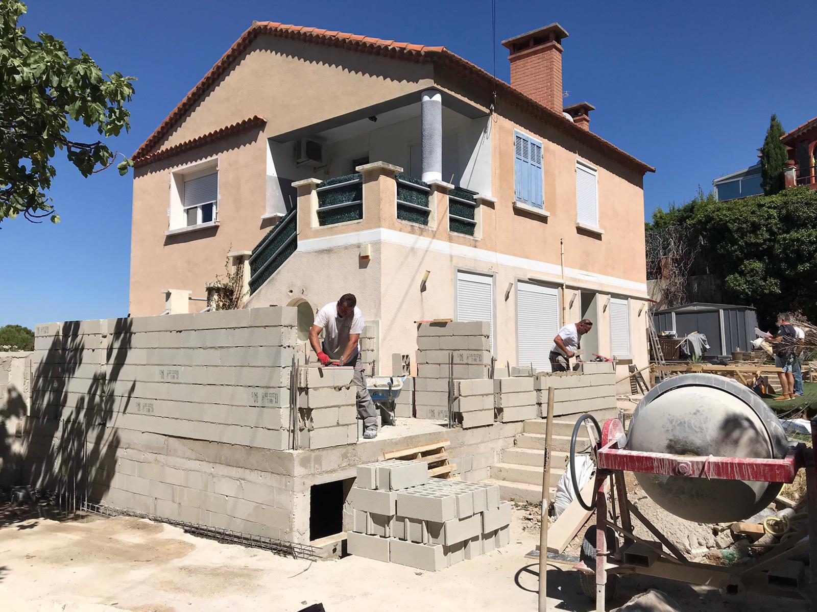 Rénovation et extension de maison à Allauch (13)